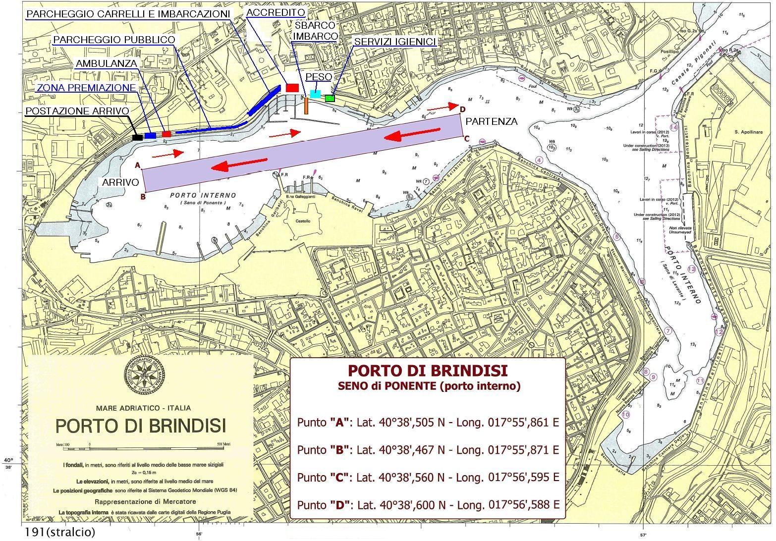 Campo di regata del 19-03-2017 Brindisi