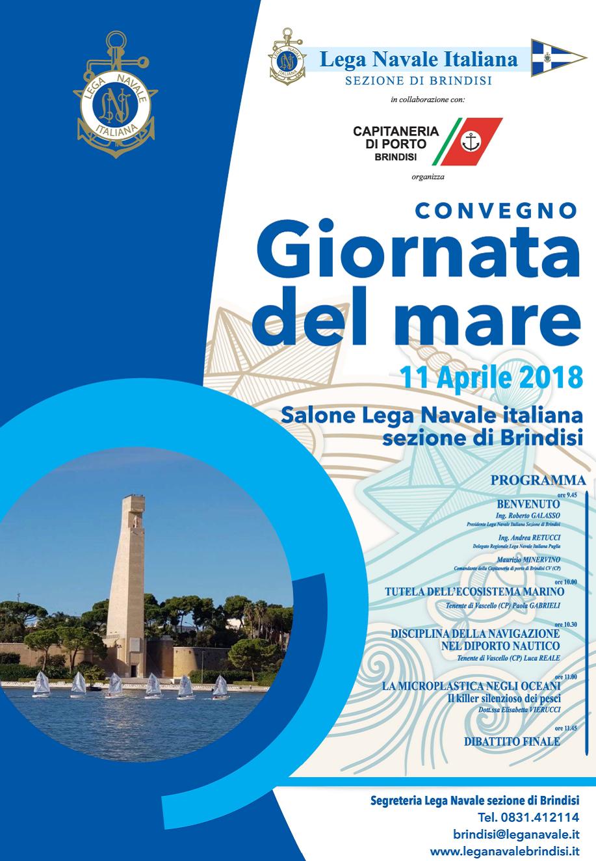 Locandina Giornata Nazionale del Mare 2018- Brindisi
