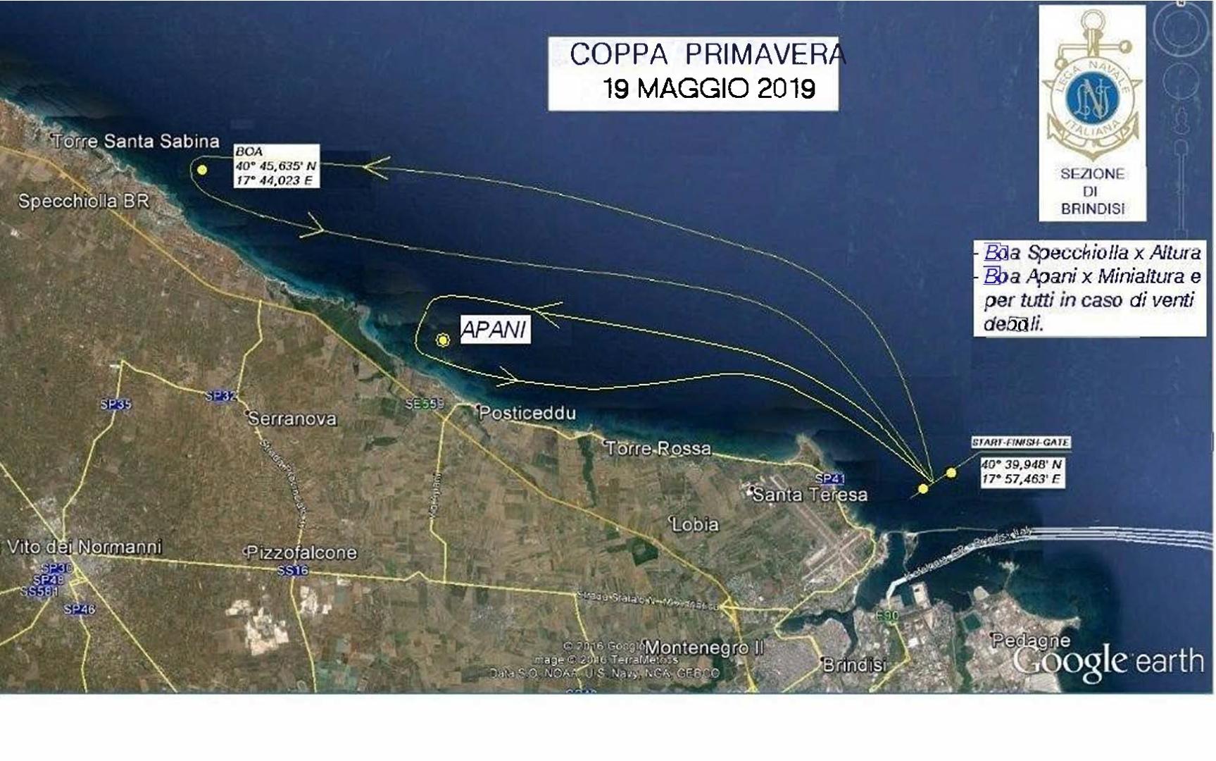 campo di regata coppa primavera 2019